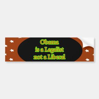 Obama es un jGibney de las estrellas de Brown del  Etiqueta De Parachoque