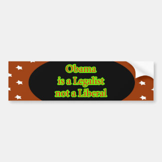 Obama es un jGibney de las estrellas de Brown del  Pegatina Para Coche