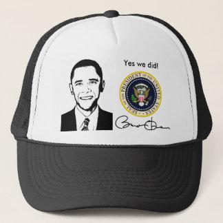 Obama hicimos sí el gorra