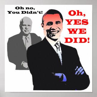 Obama HICIMOS SÍ Póster
