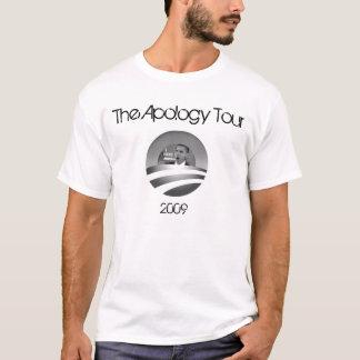 Obama la camiseta del viaje de la disculpa