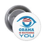 Obama LE ESTÁ MIRANDO PRISMA del ojo de Obama Pins