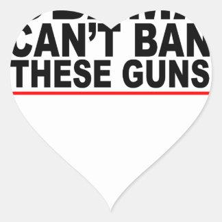 Obama no puede prohibir estas camisetas L.png de Pegatina En Forma De Corazón