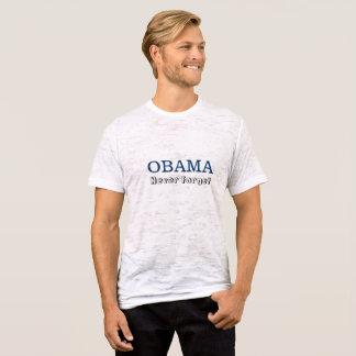 Obama - nunca olvide camiseta