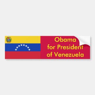 Obama para el presidente de Venezuela Pegatina Para Coche