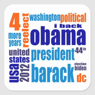 Obama pegatina de la nube de 4 más años