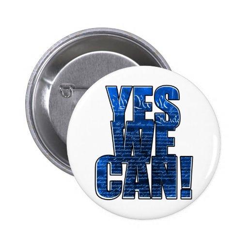 "Obama ""podemos sí!"" Botón Pins"