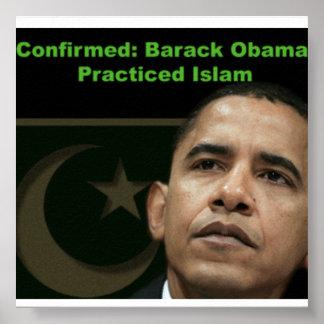 Obama practicó el poster del Islam