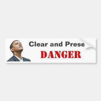 Obama: Prueba de riesgo claro y presente Pegatina Para Coche