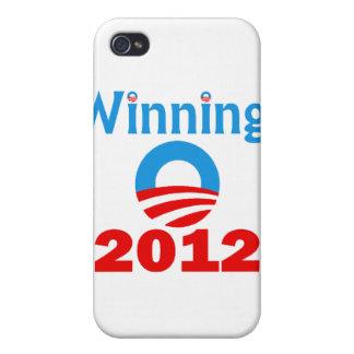 Obama que gana, 2012 iPhone 4 fundas