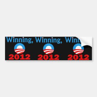 Obama que gana, 2012 pegatina de parachoque