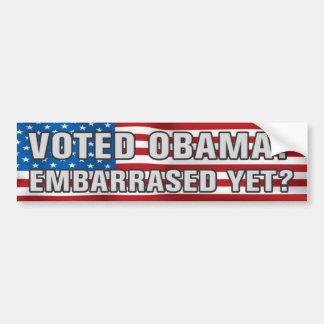 ¿Obama votado? Pegatina para el parachoques