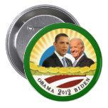 Obama y sol de Biden Chapa Redonda De 7 Cm