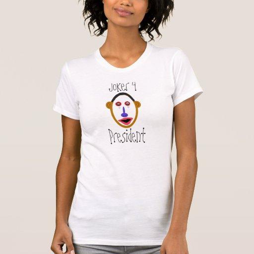 obamajoker, comodín 4, presidente camiseta