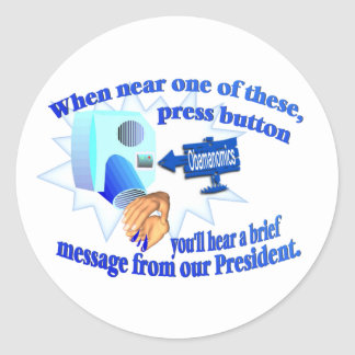 ¡Obamanomics anti - Obamanomics está dañando Etiqueta Redonda
