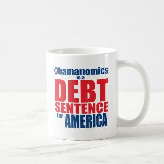 Obamanomics - frase de la deuda tazas