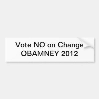 Obamney 2012 etiqueta de parachoque