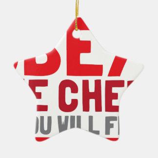 Obedezca al cocinero o usted freirá ornamento de navidad