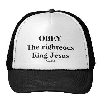 OBEDEZCA al rey honrado Jesús Hat Gorros Bordados