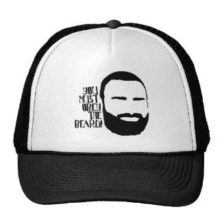 Obedezca la barba gorras