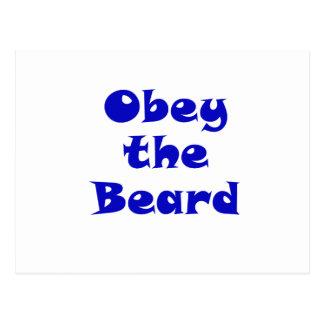 Obedezca la barba postal
