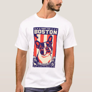 ¡Obedezca la Boston Terrier! Camiseta