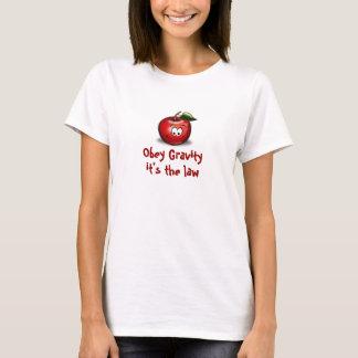 Obedezca la camiseta de la gravedad con Apple