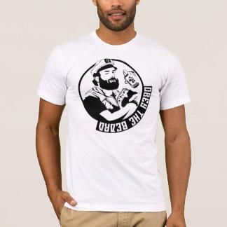 Obedezca la camiseta de los hombres de la barba