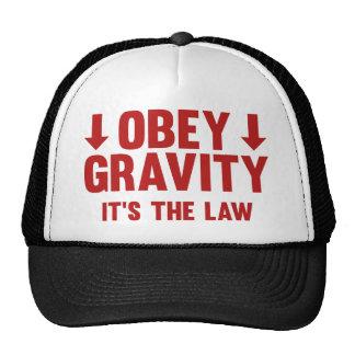 Obedezca la gravedad. Es la ley Gorro