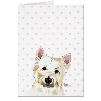 Obedezca la tarjeta de nota linda de Terrier de la
