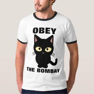 OBEDEZCA las camisetas del gato de BOMBAY