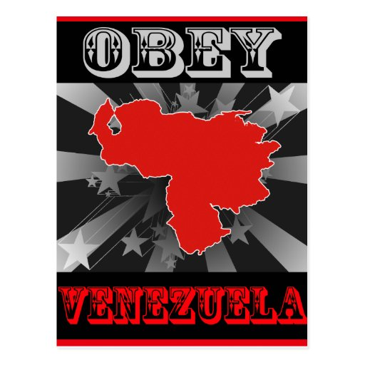Obedezca Venezuela Tarjetas Postales