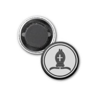 Obispo del negro del pedazo de ajedrez imanes para frigoríficos