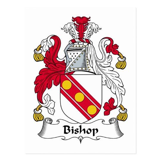 Obispo Family Crest Postal
