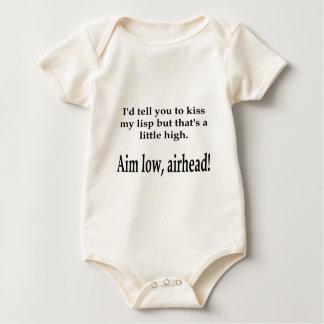 ¡Objetivo bajo, cabezas de puente aéreo! Body Para Bebé