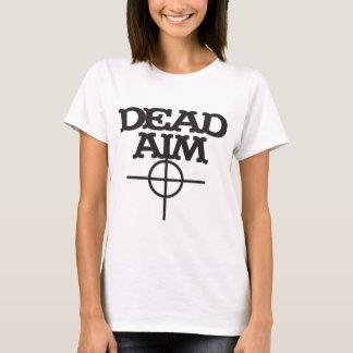 objetivo muerto con la blanco de la vista camiseta