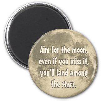 Objetivo para la luna imanes