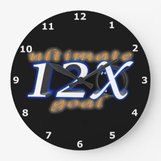 Objetivo último reloj redondo grande