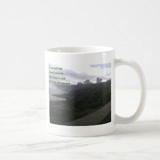Objetivo y voto a intentar taza de café