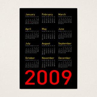 Objetos de recuerdo de Obama - calendario de 2009 Tarjeta De Negocios
