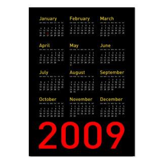 Objetos de recuerdo de Obama - calendario de 2009 Tarjetas De Visita Grandes