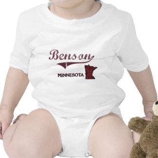 Obra clásica de la ciudad de Benson Minnesota Trajes De Bebé
