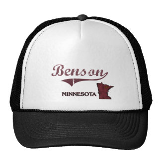 Obra clásica de la ciudad de Benson Minnesota Gorro