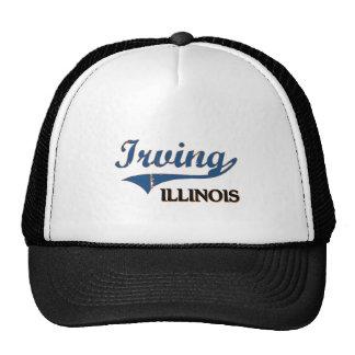 Obra clásica de la ciudad de Irving Illinois Gorro De Camionero