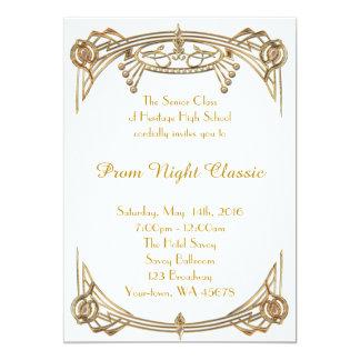 Obra clásica de la noche del baile de fin de curso invitación 12,7 x 17,8 cm