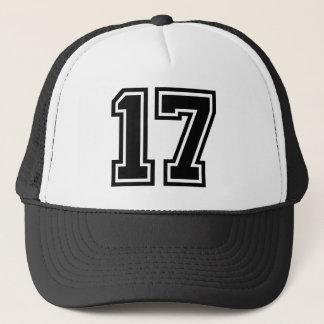 Obra clásica del número 17 gorra de camionero