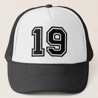 Obra clásica del número 19 gorra de camionero