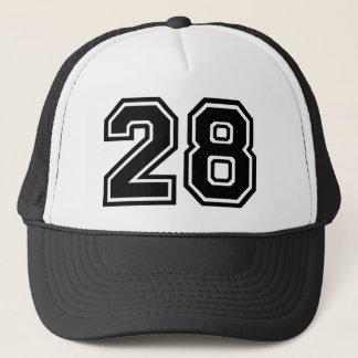 Obra clásica del número 28 gorra de camionero