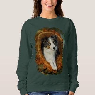 Obra clásica divertida animal del perro azul de sudadera