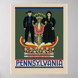 Obra clásica retra del poster del viaje de póster